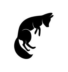 fox logo animal coyote logo design template vector image
