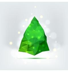 Geometric mosaic christmas tree vector image