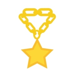 Gold necklace decoration vector image