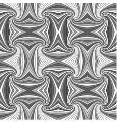 grey psychedelic abstract seamless striped vortex vector image
