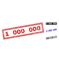 grunge 1 000 000 scratched rectangle watermarks vector image