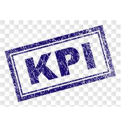Grunge kpi rectangle stamp vector