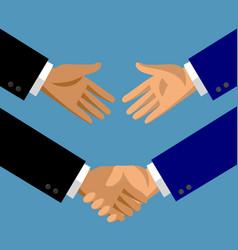 Handshake in flat style vector
