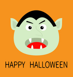 Happy halloween count dracula head face cute vector