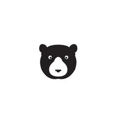 Head black honey bear logo symbol icon graphic vector