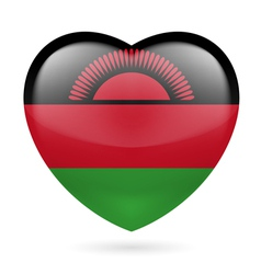 Heart icon of Malawi vector