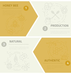 Honey Concept Set vector