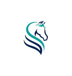 horse logo design template vector image