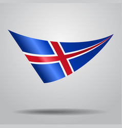 Icelandic flag background vector