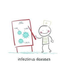 infectious diseases specialist says a presentation vector image