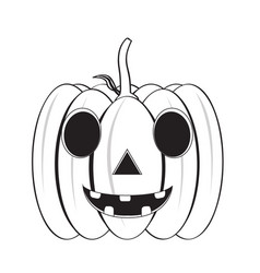 isolated happy halloween pumpkin icon vector image