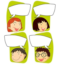 Kids and communication signs vector image