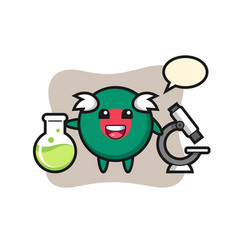 Mascot character bangladesh flag badge as a vector