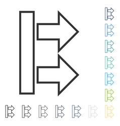 Move arrows right icon vector