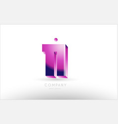number 11 eleven black white pink logo icon design vector image