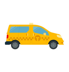 passenger-and-freight taxi icon flat isolated vector image
