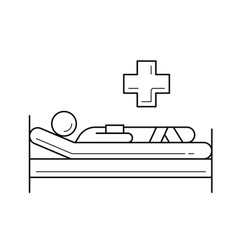 Patient line icon vector
