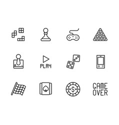 play and game icon simple symbols set contains vector image