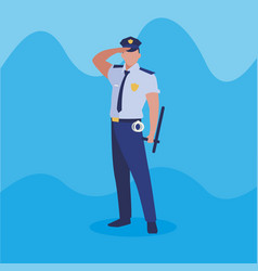 Police officer law character vector