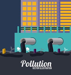 Pollution design over blue background vector