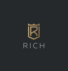 premium monogram letter r initials logotype vector image