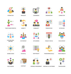 project management icons pack in flat desi vector image