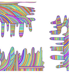 Psychedelic rainbow background lines pastel vector