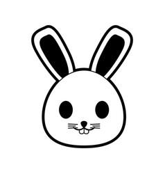 rabbit or bunny cute animal icon image vector image