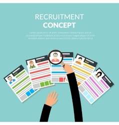 Recruiment flat concept vector