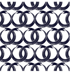 Repeat snakes seamless pattern tiling endless vector