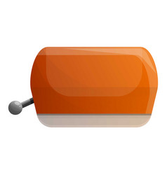 retro toaster icon cartoon style vector image