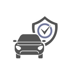 safety insurance car isolated icon on white vector image
