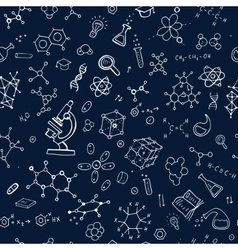 Seamless chemistry background vector
