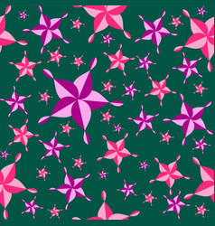 seamless colorful pattern pink purple star vector image