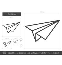 Send line icon vector