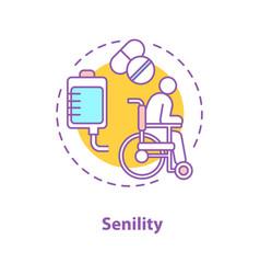Senility concept icon vector