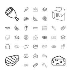 Slice icons vector