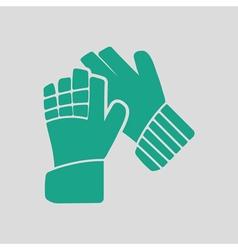 Soccer goalkeeper gloves icon vector