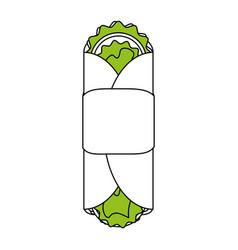 Tacos food flat vector