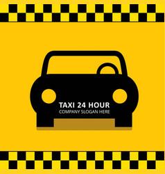 taxi icon taxi service 24 hour serrvice black vector image