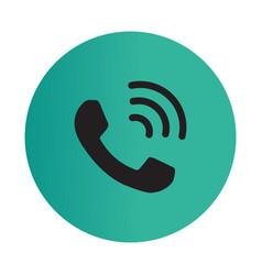 Thin line call icon vector