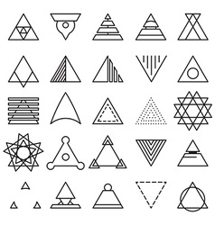 Triangle experimental icons vector