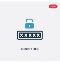 Two color security code icon from smart home vector