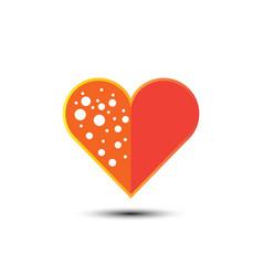 valentines day heart cartoon vector image