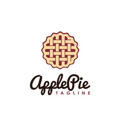 vintage hipster retro apple pie logo vector image