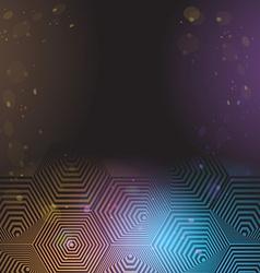 Volumetric 3D pyramid hexagon Optical black purple vector