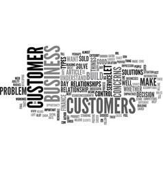 What is great customer service text word cloud vector