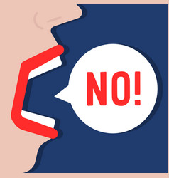 woman says no word like negation vector image