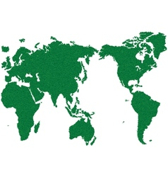 WORLD MAP GRASS GREEN vector image