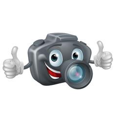 cartoon camera mascot vector image vector image